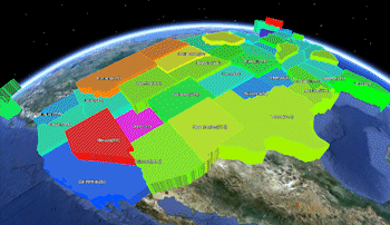 Google Earth State Country Predefined Polygon Maps Advanced