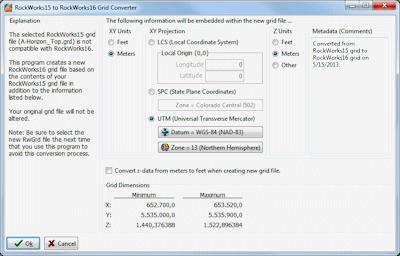 RockWorks15 to RockWorks17 Grid Converter
