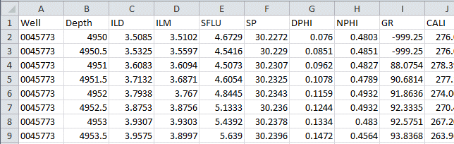 Importing Data from CSV or Excel into the P-Data Table